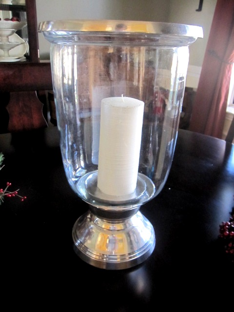 How To Easily Create A Holiday Hurricane Candle Holder